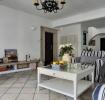 混搭风格白色客厅背景墙图片欣赏