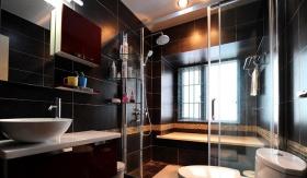 时尚现代风格黑色卫生间设计装潢