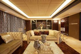 新古典风格黄色客厅美图欣赏