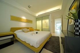 时尚黄色简约卧室装修