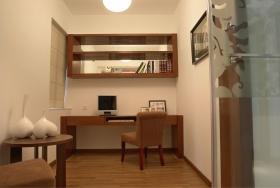 新中式风格温馨黄色书房装修效果图片