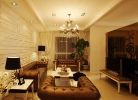 欧式风格黄色客厅背景墙效果图