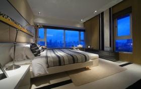 现代时尚灰色卧室装修图片