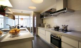 白色现代风格厨房设计效果图