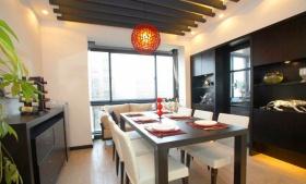 黑色现代风格餐厅装修效果图片