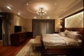 黄色简欧卧室背景墙装潢设计