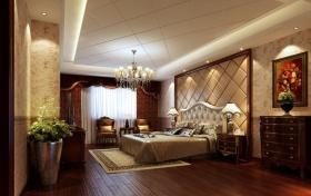 欧式奢华黄色卧室图片欣赏