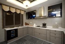 中式风格灰色厨房装修图片