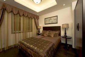 褐色中式风格卧室美图欣赏