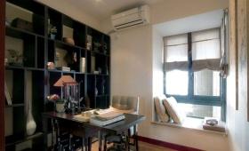 灰色中式书房飘窗设计欣赏