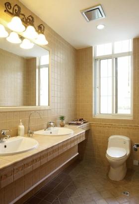 美式清新黄色卫生间装修设计