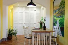 清新白色田园风格餐厅装修设计