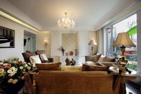 欧式白色客厅吊顶设计效果图
