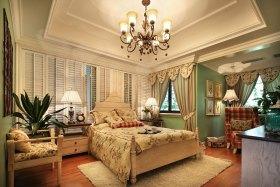 多彩混搭卧室吊顶美图