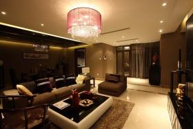 米色休闲现代客厅吊顶效果图