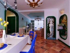 蓝色地中海客厅设计装潢