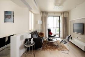 现代风格米色时尚客厅背景墙设计