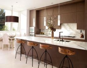 简约风格褐色厨房装修效果图