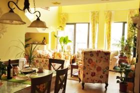 清新田园黄色客厅装潢设计图
