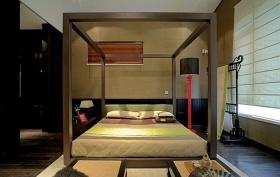 黄色中式卧室图片欣赏