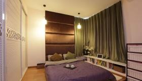 现代风格绿色卧室飘窗图片