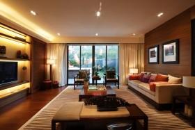 中式风格客厅背景墙设计图片