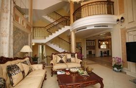 褐色新古典风格客厅效果图赏析