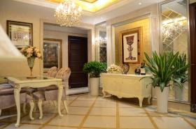 简欧风格黄色客厅装修效果图
