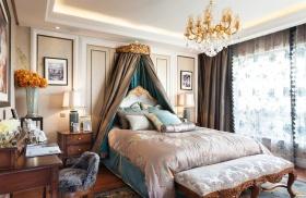 美式浪漫紫色卧室装修设计