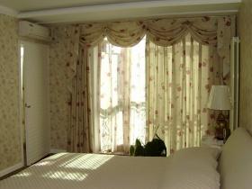田园绿色卧室窗帘赏析
