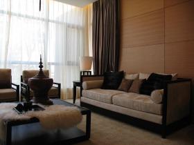 简约风格客厅窗帘装饰效果图