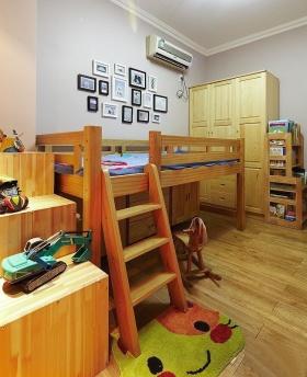 温馨黄色简约风格儿童房装修案例