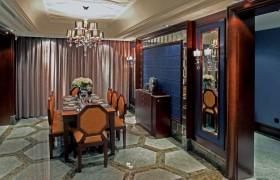 欧式奢华风格餐厅装修布置图