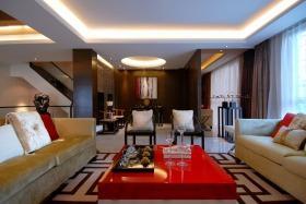 中式风格灰色客厅效果图