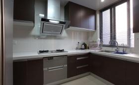 黑色现代厨房装潢设计
