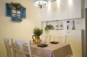 清新田园白色餐厅装修效果图片
