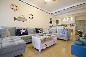 蓝色地中海客厅效果图设计