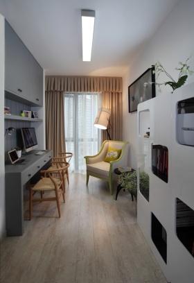 现代风格白色时尚书房设计装潢