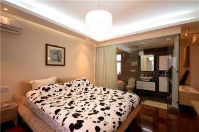 白色休闲现代风格卧室设计装潢