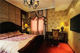 美式清新黄色卧室图片欣赏