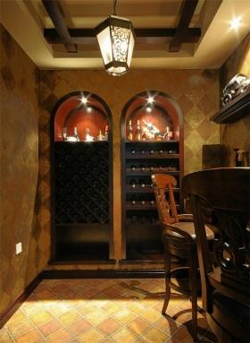 美式风格黄色复古酒柜装饰案例