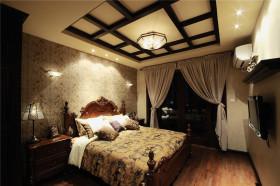 新古典奢华浪漫黄色卧室吊顶设计图片