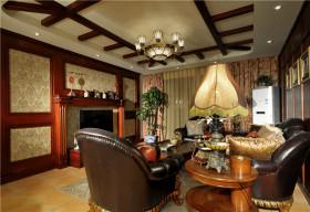 美式风格客厅吊顶效果图赏析