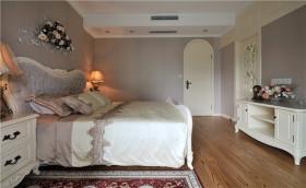 欧式浪漫紫色卧室装潢设计图