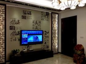 中式米色雅致背景墙图片赏析