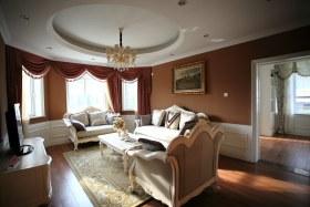 欧式风格红色客厅装饰效果图