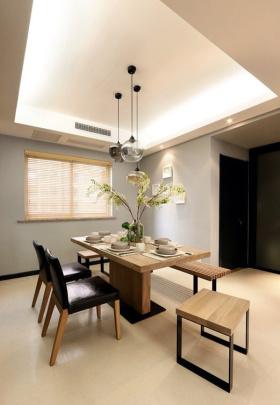 现代风格休闲白色餐厅装潢设计