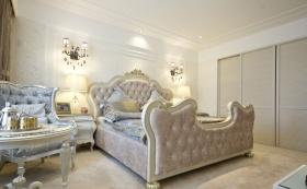 浪漫紫色欧式风格卧室效果图欣赏