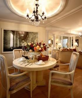 美式清新米色餐厅装饰案例