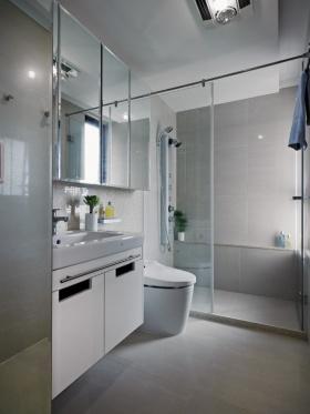 灰色简约时尚卫生间设计案例